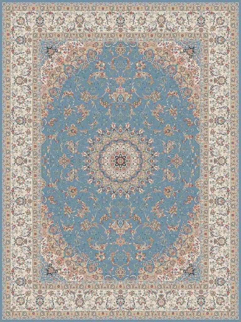 فرش (14000) اکریلیک - 8 رنگ - 700 شانه - آبي - تراکم 2100