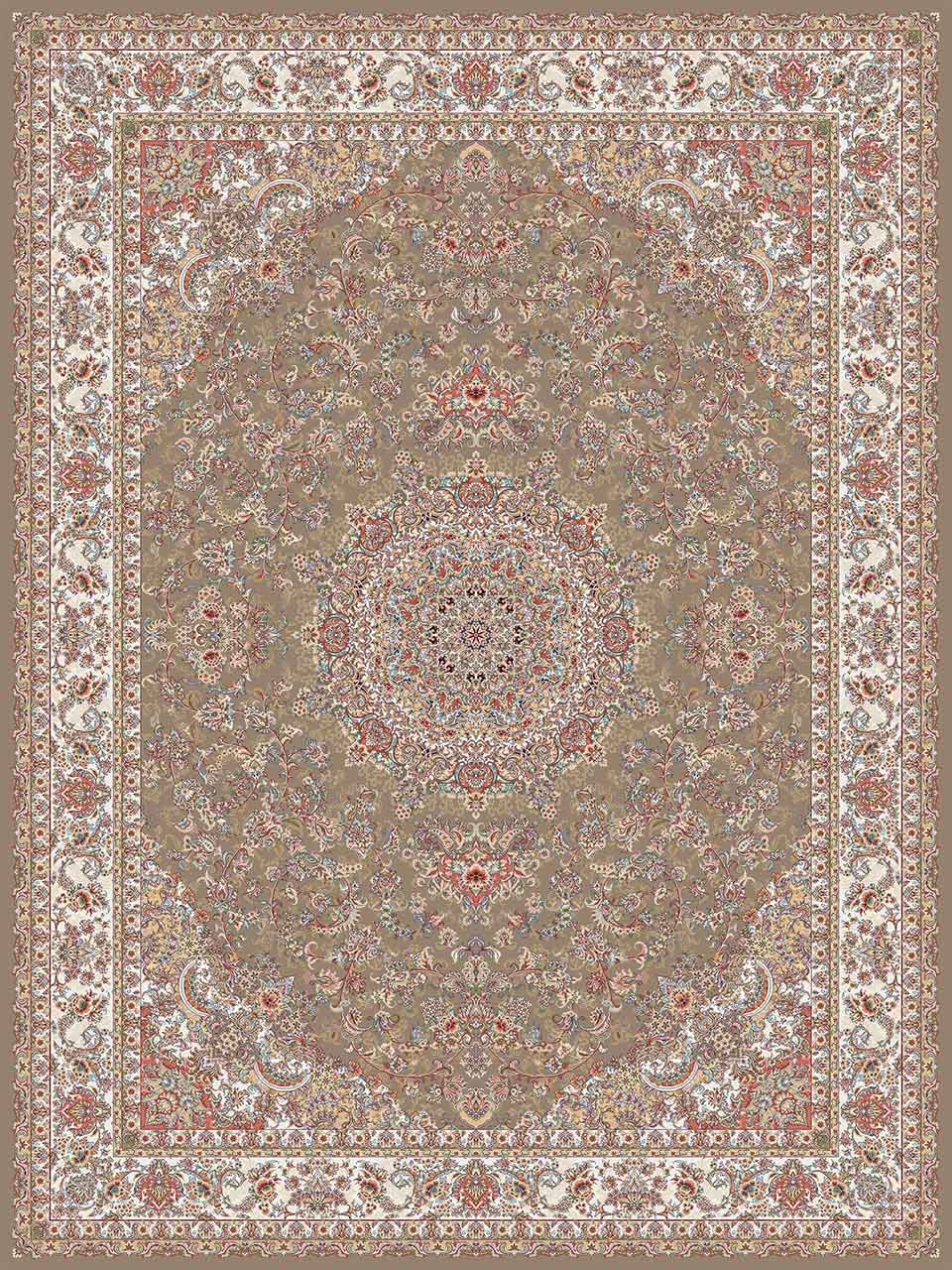فرش (14003) اکریلیک - 8 رنگ - 700 شانه - گردويي - تراکم 2100