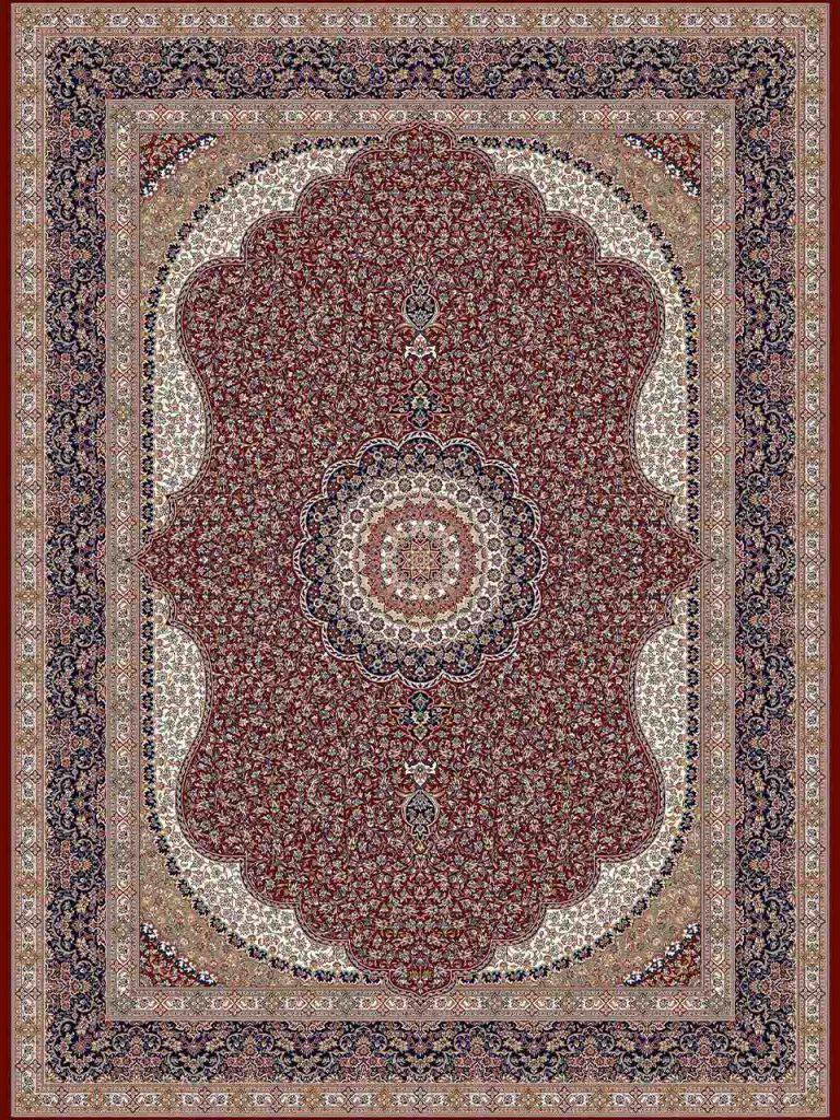 فرش (14010) اکریلیک - 8 رنگ - 700 شانه - لاكي - تراکم 2100