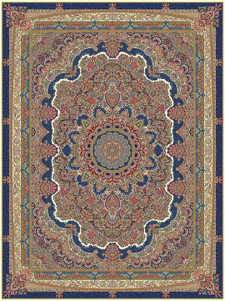 فرش (18116) اکریلیک - 8 رنگ - 500 شانه - كرم - تراکم 1000