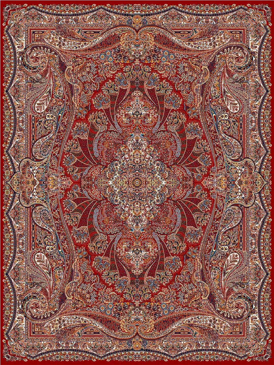 فرش (18123) اکریلیک - 8 رنگ - 500 شانه - لاكي - تراکم 1000
