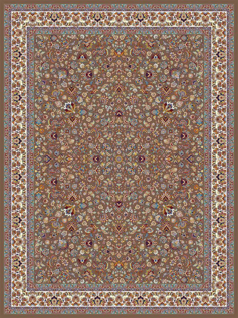 فرش (18126/1) اکریلیک - 8 رنگ - 500 شانه - گردويي - تراکم 1000