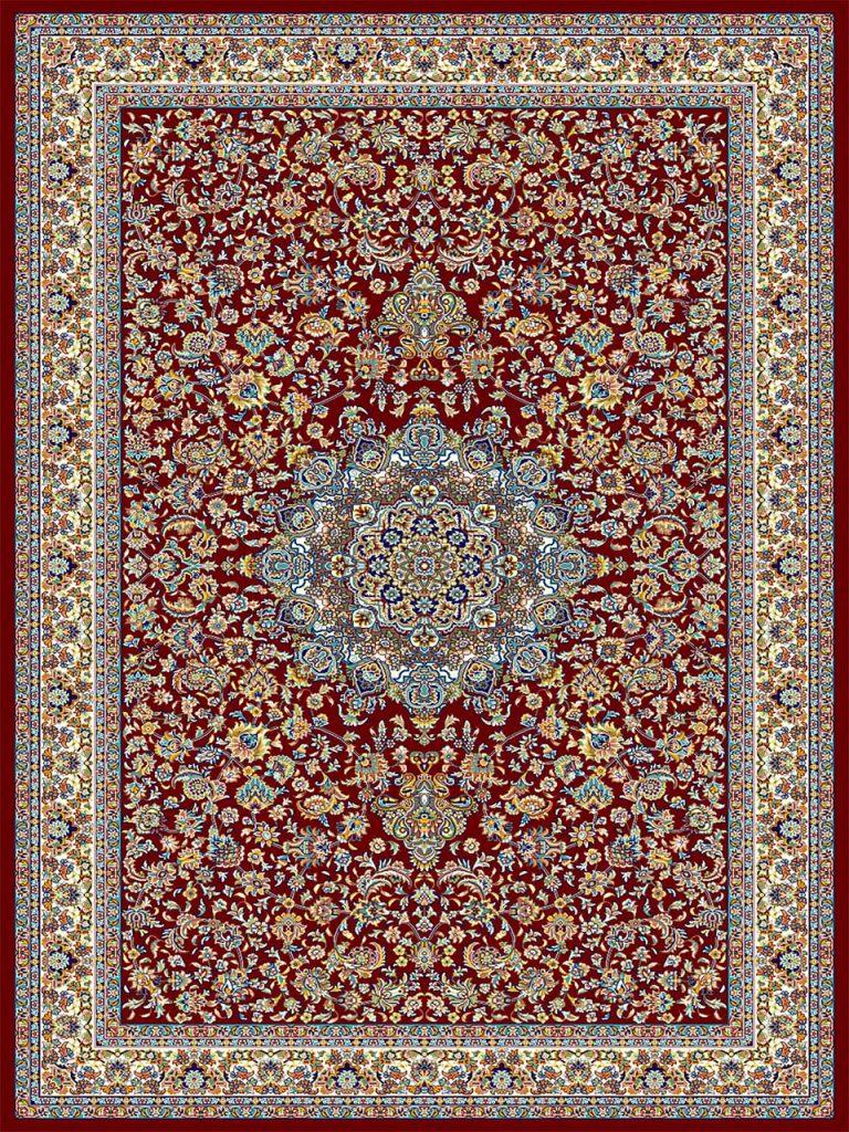 فرش (18127) اکریلیک - 8 رنگ - 500 شانه - لاكي - تراکم 1000