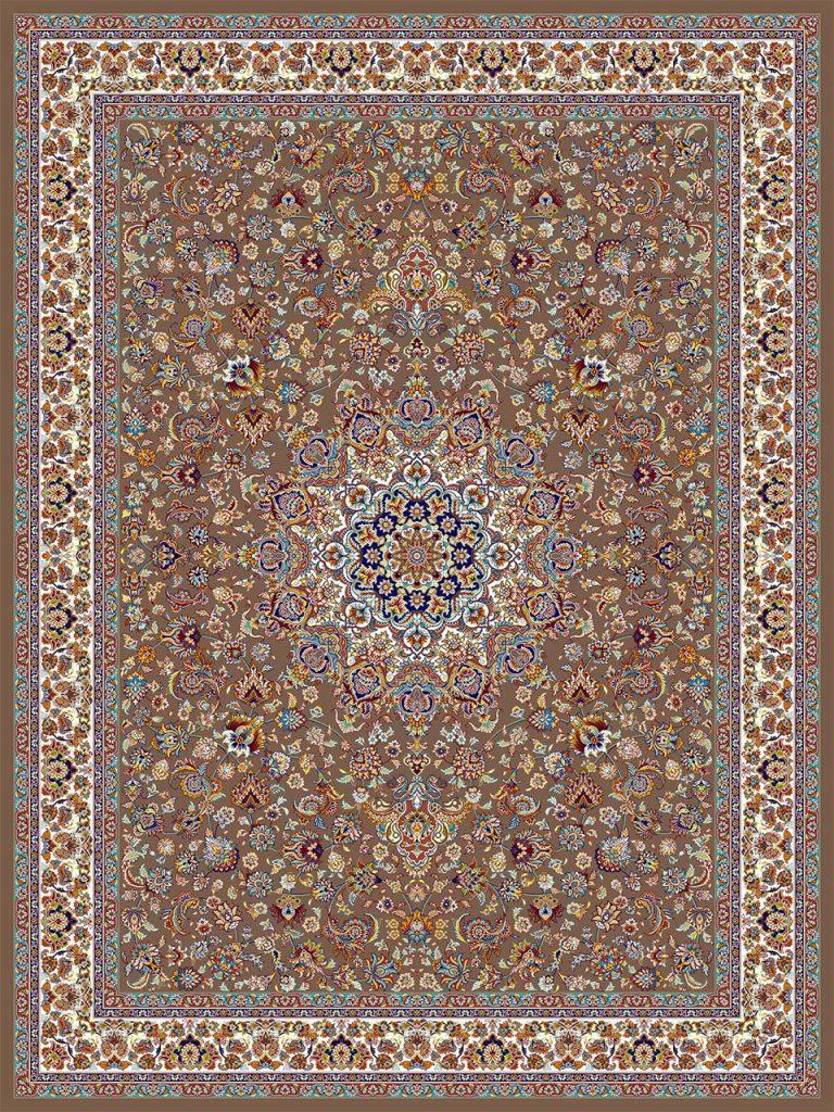 فرش (18127) اکریلیک - 8 رنگ - 500 شانه - گردويي - تراکم 1000فرش (18127) اکریلیک - 8 رنگ - 500 شانه - گردويي - تراکم 1000