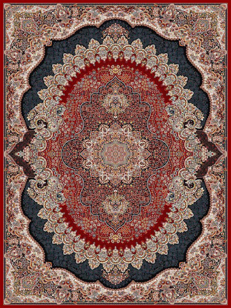 فرش (18130) اکریلیک - 8 رنگ - 500 شانه - لاكي - تراکم 1000