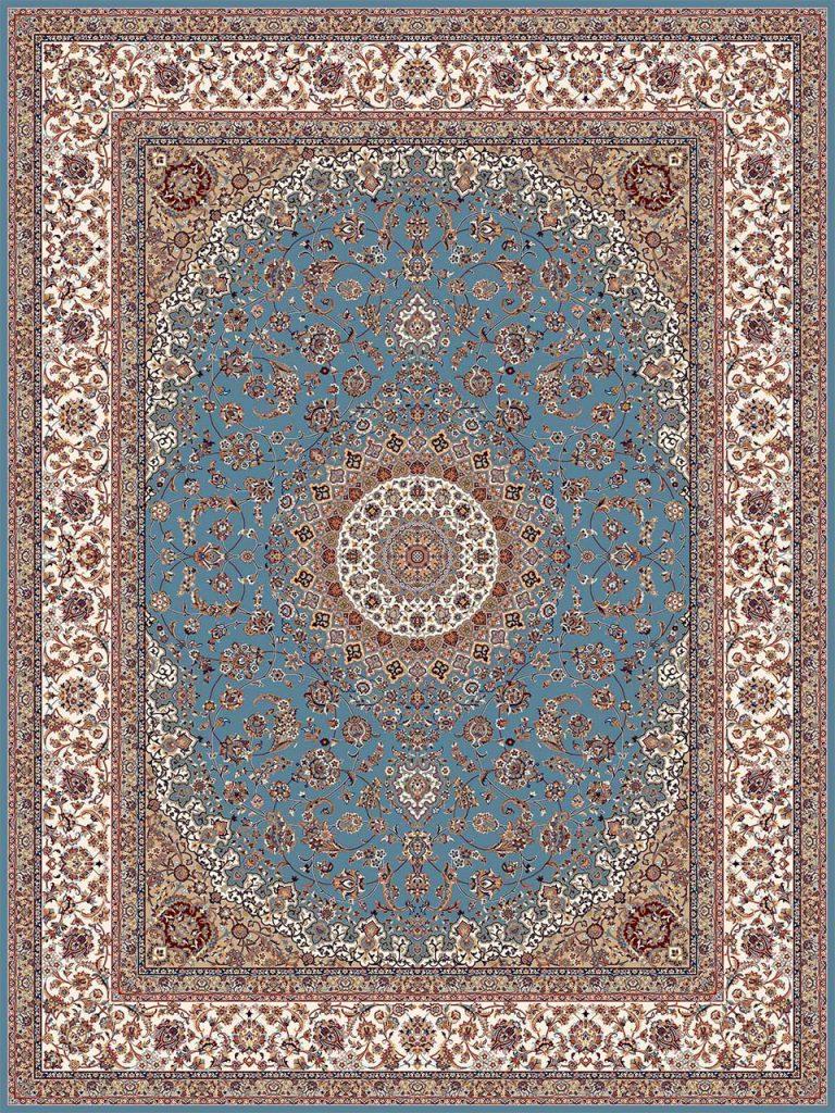 فرش (18131) اکریلیک - 8 رنگ - 500 شانه - آبي - تراکم 1000