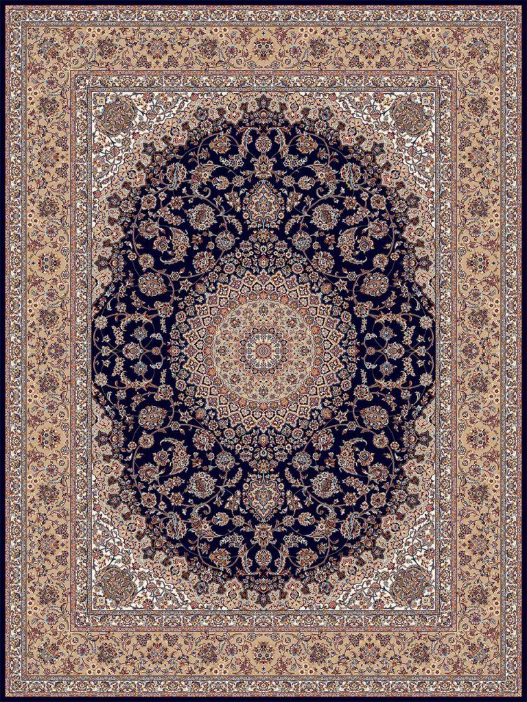 فرش (18131) اکریلیک - 8 رنگ - 500 شانه - سورمه اي - تراکم 1000