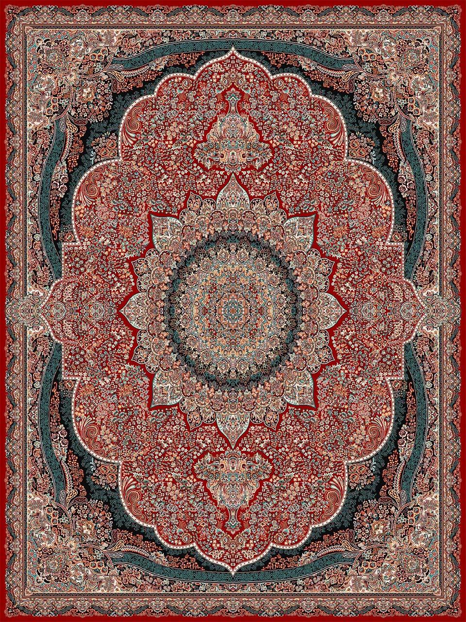 فرش (18133) اکریلیک - 8 رنگ - 500 شانه - لاكي - تراکم 1000