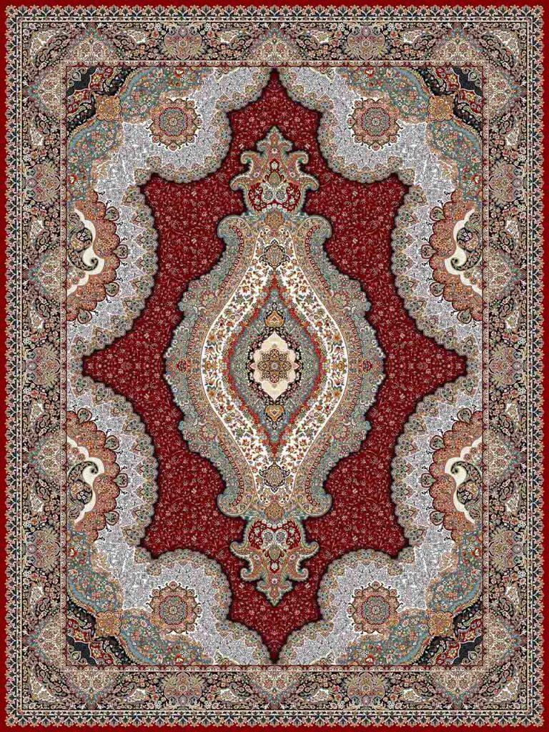 فرش (25018) اکریلیک - 8 رنگ - 700 شانه - لاكي - تراکم 2550