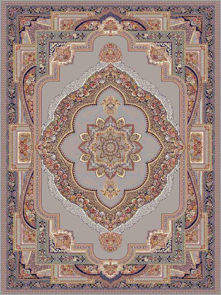 فرش (25034) اکریلیک - 8 رنگ - 700 شانه - طوسي - تراکم 2550