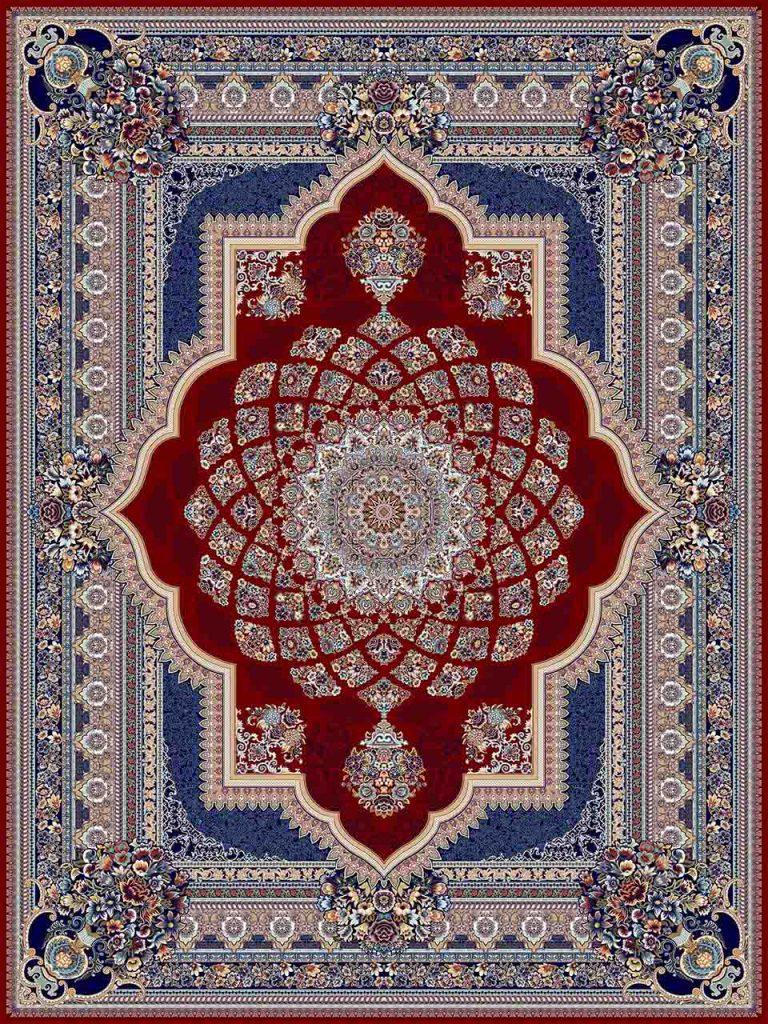 فرش (25036) اکریلیک - 8 رنگ - 700 شانه - لاكي - تراکم 2550
