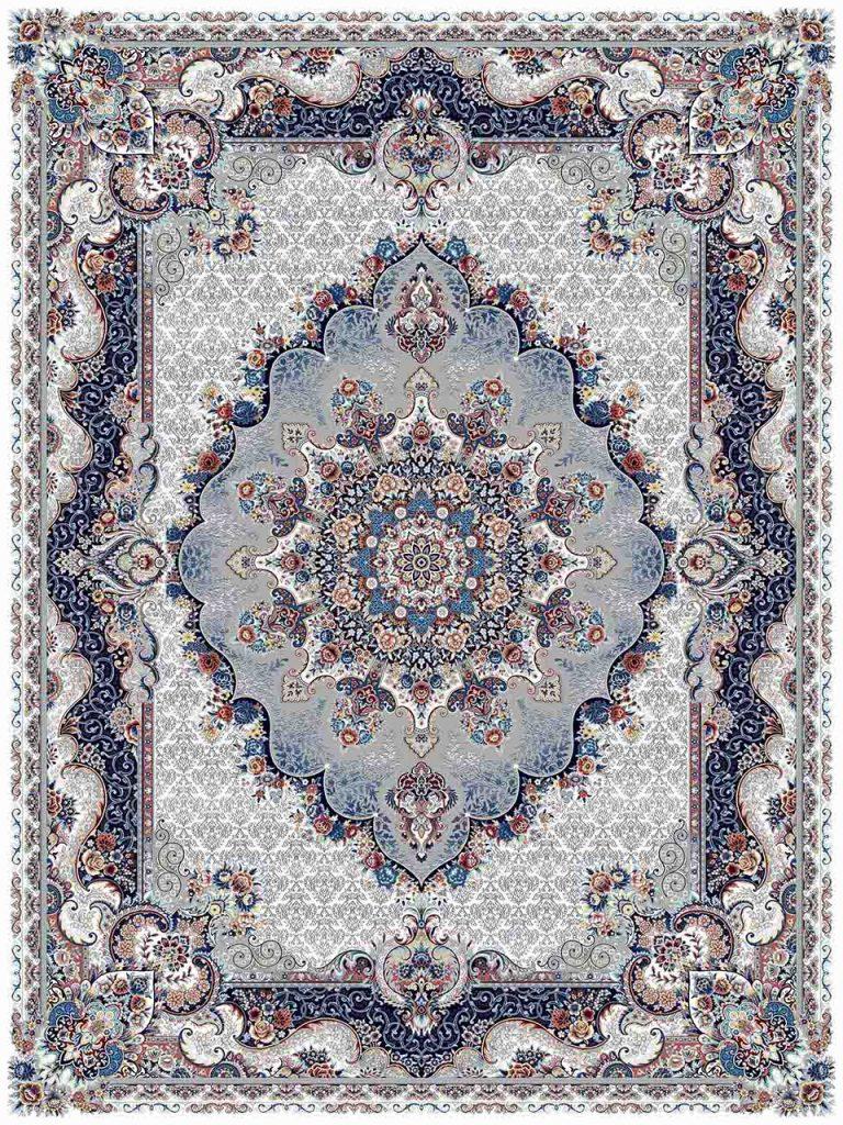 فرش (25038) اکریلیک - 8 رنگ - 700 شانه - كرم - تراکم 2550