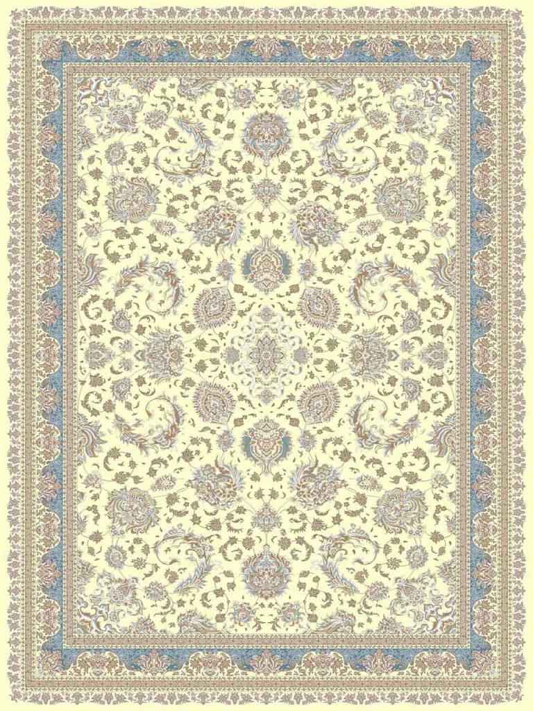 فرش (26000) اکریلیک - 8 رنگ - 700 شانه - کرم شکلاتی - تراکم 2550