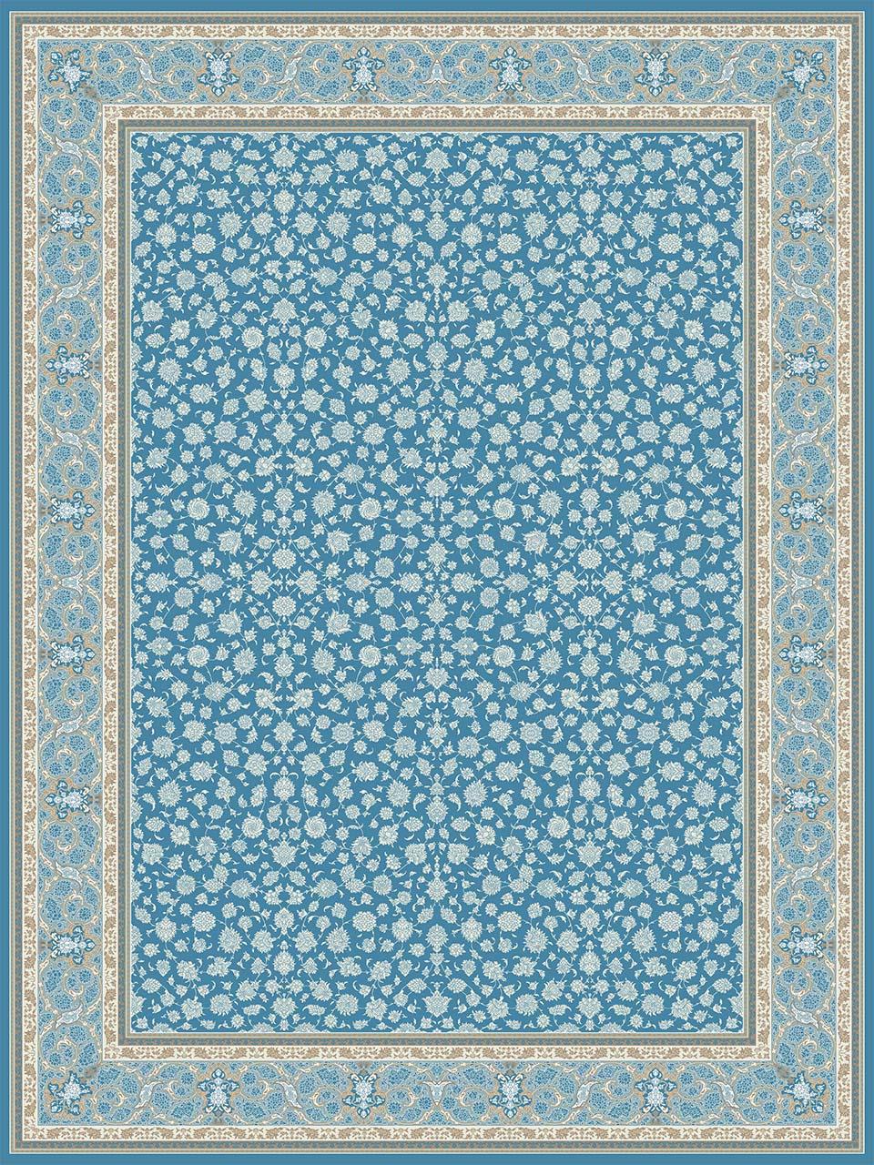 فرش (26003) اکریلیک - 8 رنگ - 700 شانه - آبي تيره - تراکم 2550
