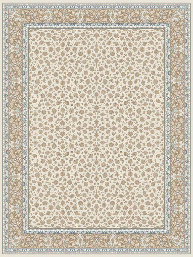فرش (26003) اکریلیک - 8 رنگ - 700 شانه - كرم - تراکم 2550