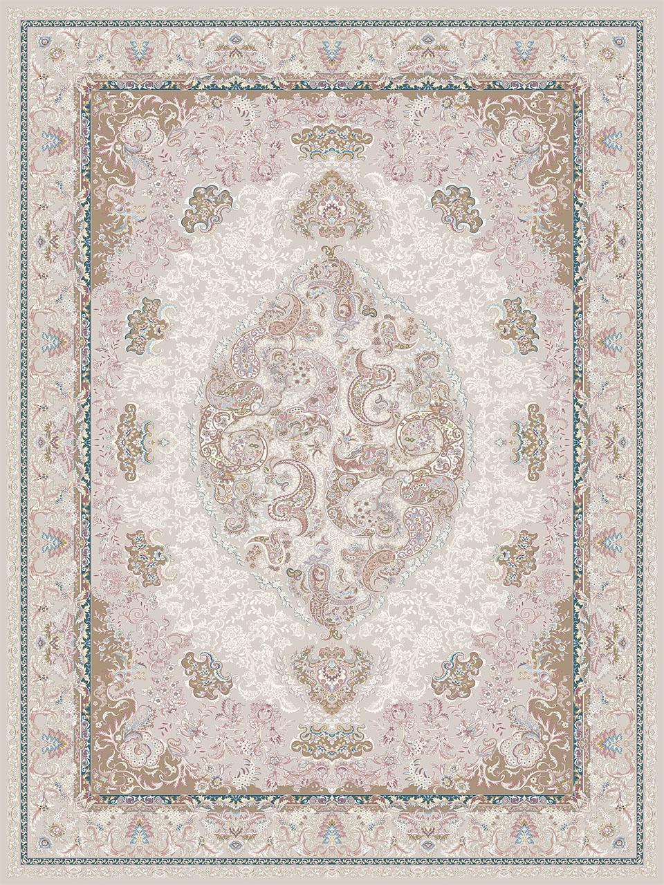 فرش (26005) اکریلیک - 8 رنگ - 700 شانه - طوسي - تراکم 2550