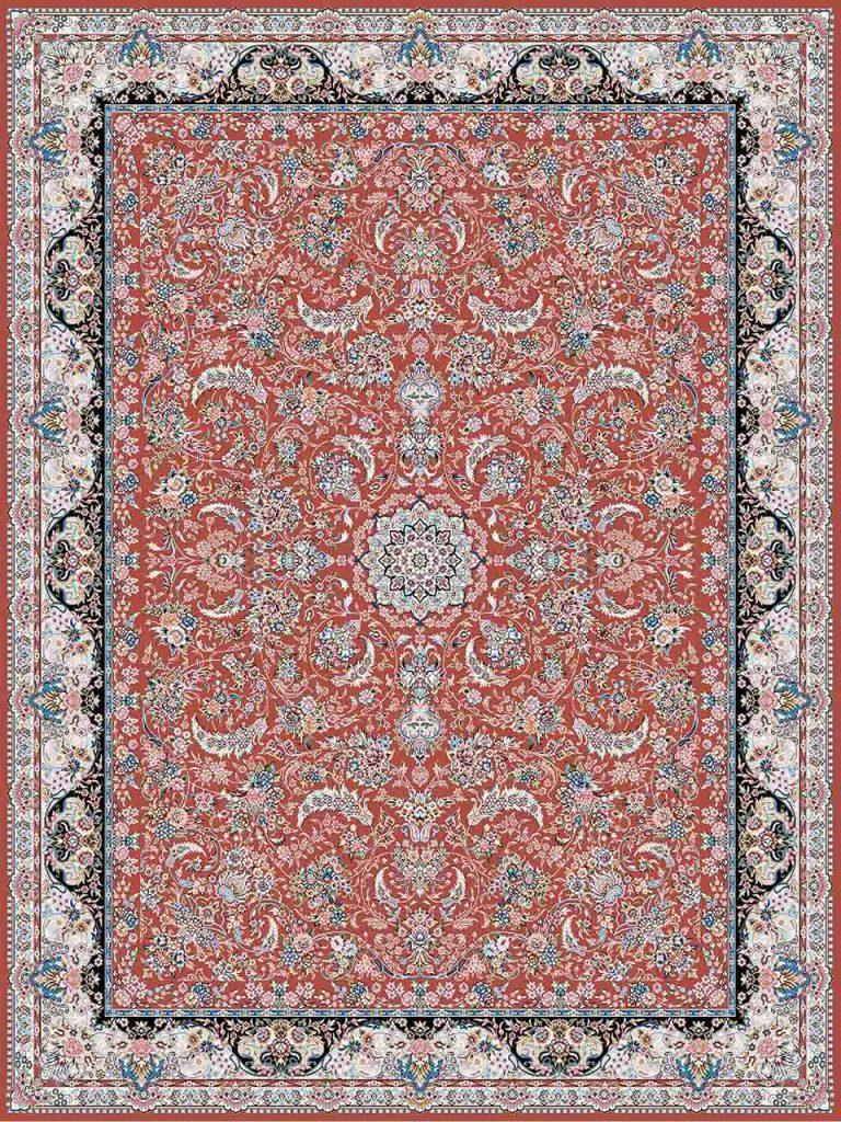 فرش (18302) اکریلیک - 8 رنگ - 500 شانه - روناسی- تراکم 1200