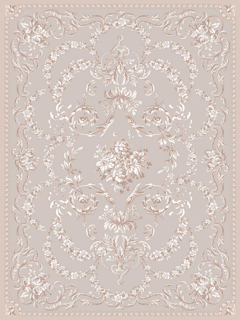 فرش (1900) پلی پروپیلن - 8 رنگ - 410 شانه - بژ - تراکم 1000