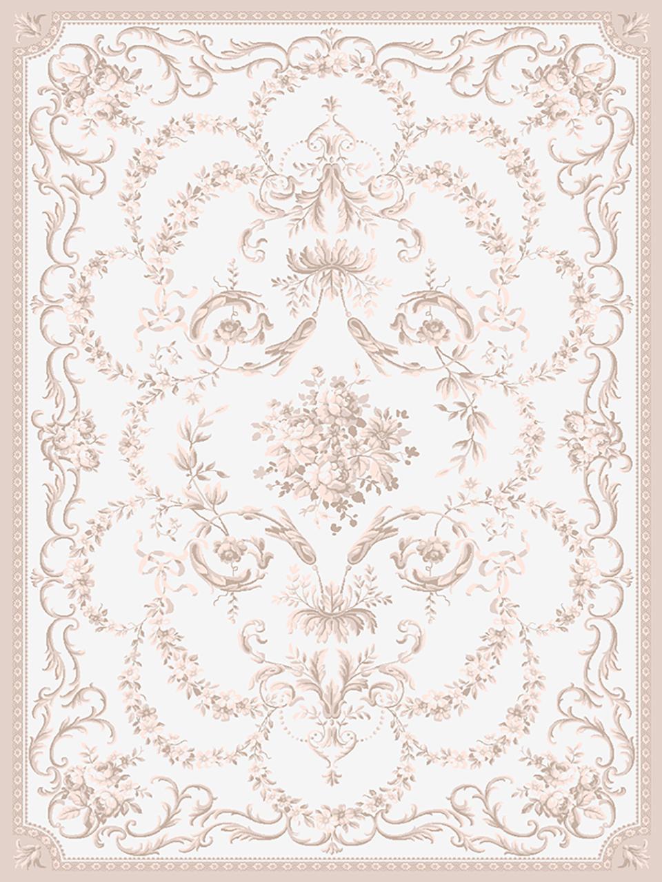 فرش (1900) پلی پروپیلن - 8 رنگ - 410 شانه - کرم - تراکم 1000