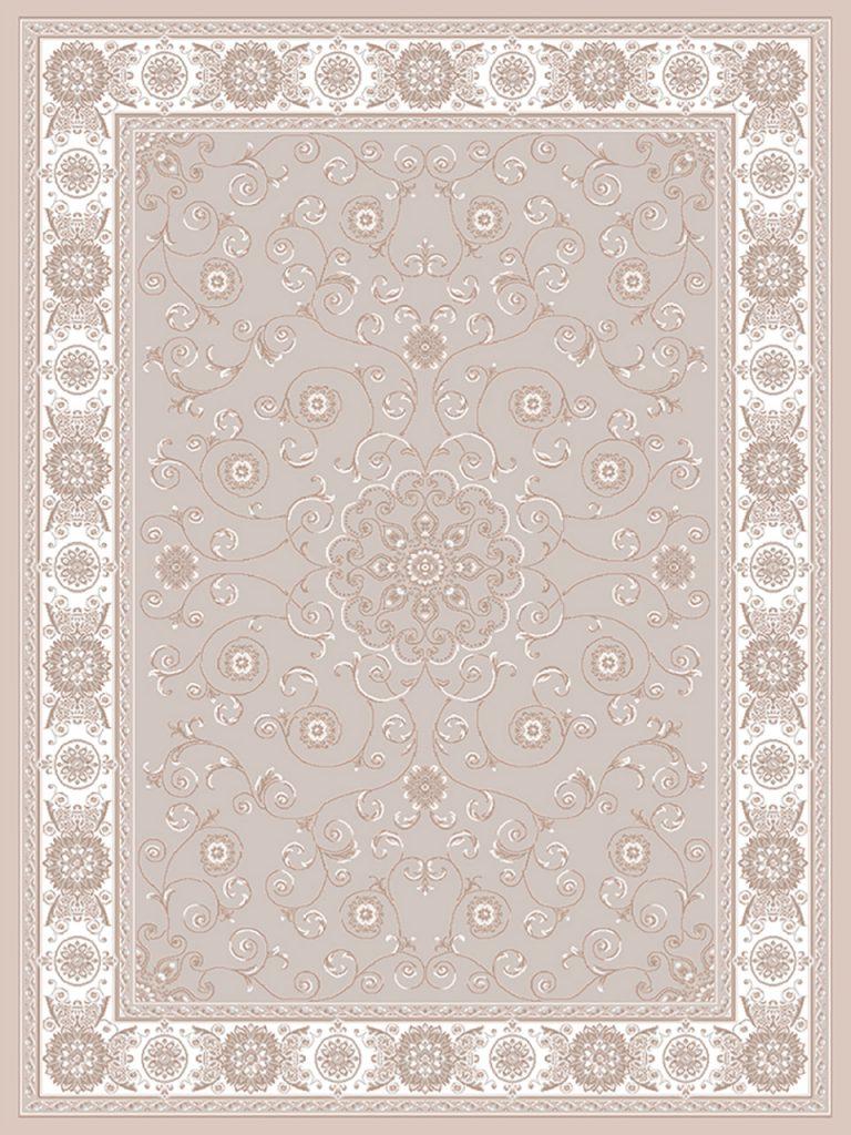 فرش (1901) پلی پروپیلن - 8 رنگ - 410 شانه - بژ - تراکم 1000