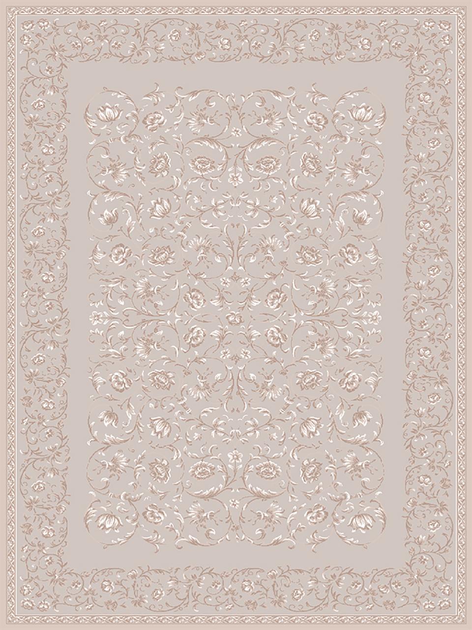 فرش (1902) پلی پروپیلن - 8 رنگ - 410 شانه - بژ - تراکم 1000
