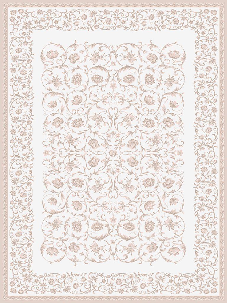 فرش (1902) پلی پروپیلن - 8 رنگ - 410 شانه - کرم - تراکم 1000