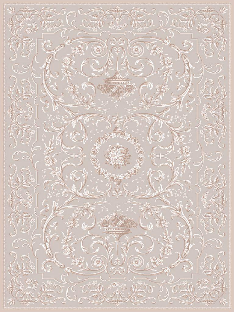 فرش (1904) پلی پروپیلن - 8 رنگ - 410 شانه - بژ - تراکم 1000
