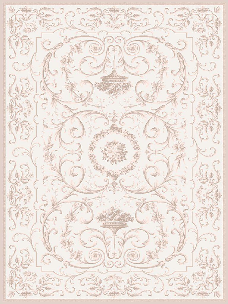 فرش (1904) پلی پروپیلن - 8 رنگ - 410 شانه - کرم - تراکم 1000