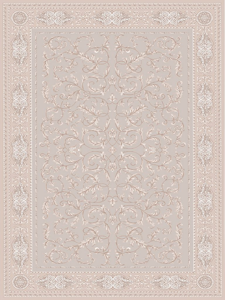فرش (1905) پلی پروپیلن - 8 رنگ - 410 شانه - بژ - تراکم 1000