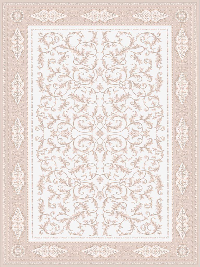 فرش (1905) پلی پروپیلن - 8 رنگ - 410 شانه - کرم - تراکم 1000