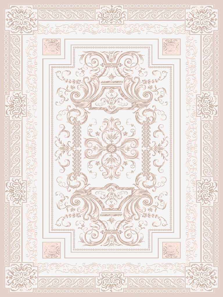 فرش (1907) پلی پروپیلن - 8 رنگ - 410 شانه - کرم - تراکم 1000