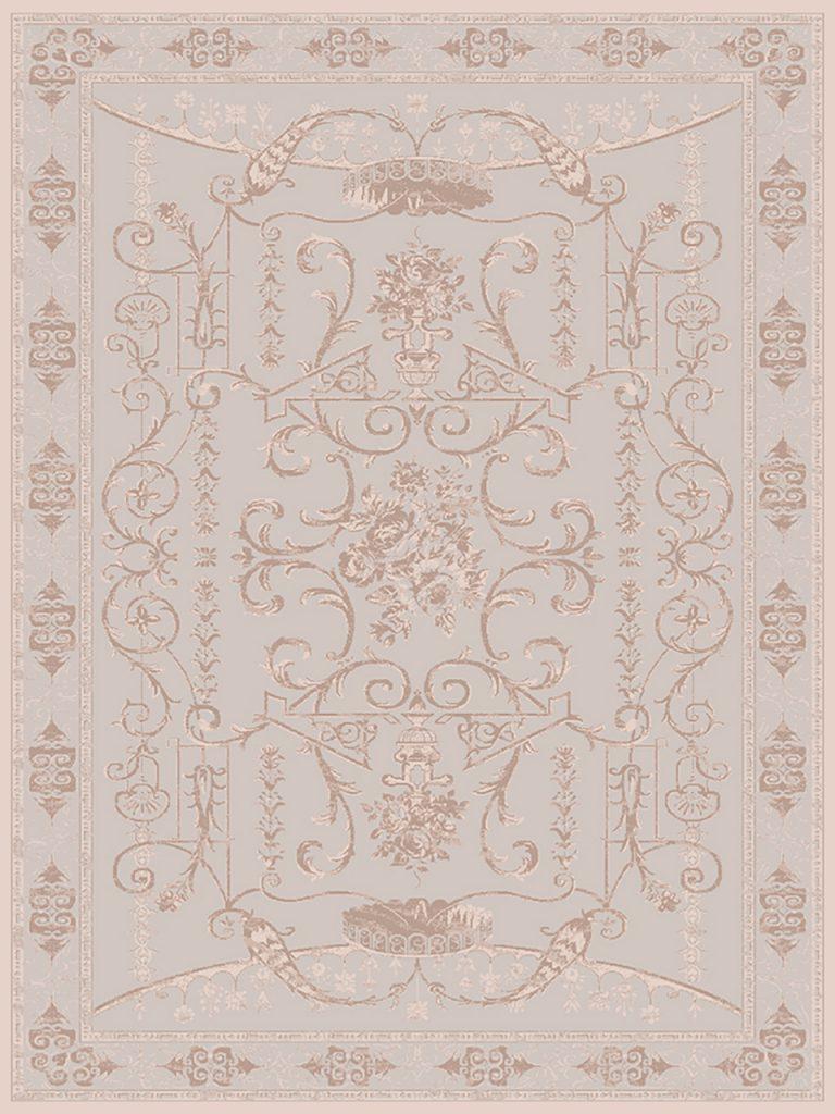 فرش (1908) پلی پروپیلن - 8 رنگ - 410 شانه - بژ - تراکم 1000