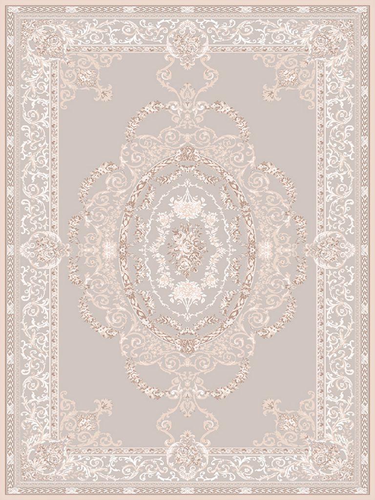 فرش (1909) پلی پروپیلن - 8 رنگ - 410 شانه - بژ - تراکم 1000