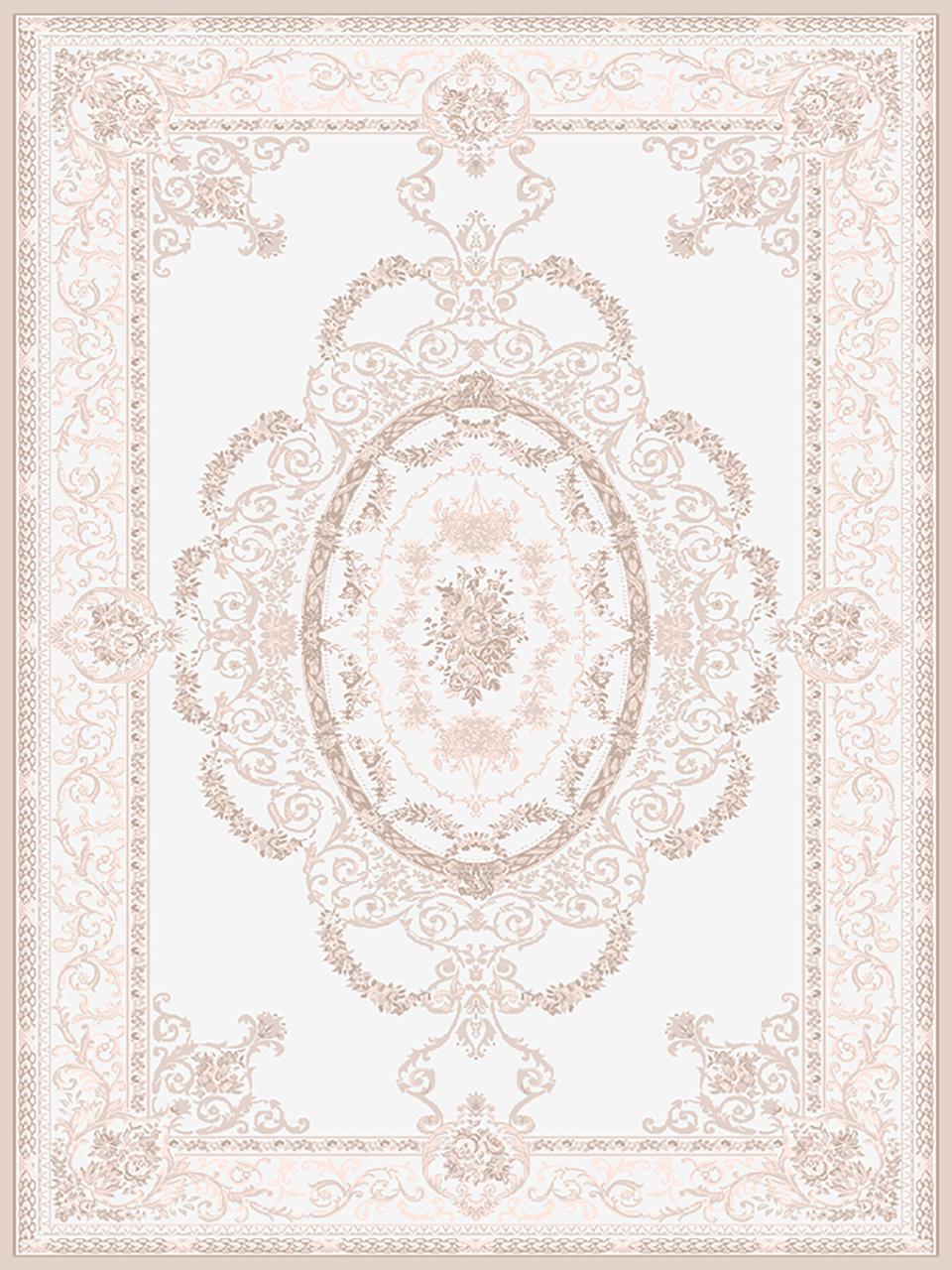 فرش (1909) پلی پروپیلن - 8 رنگ - 410 شانه - کرم - تراکم 1000