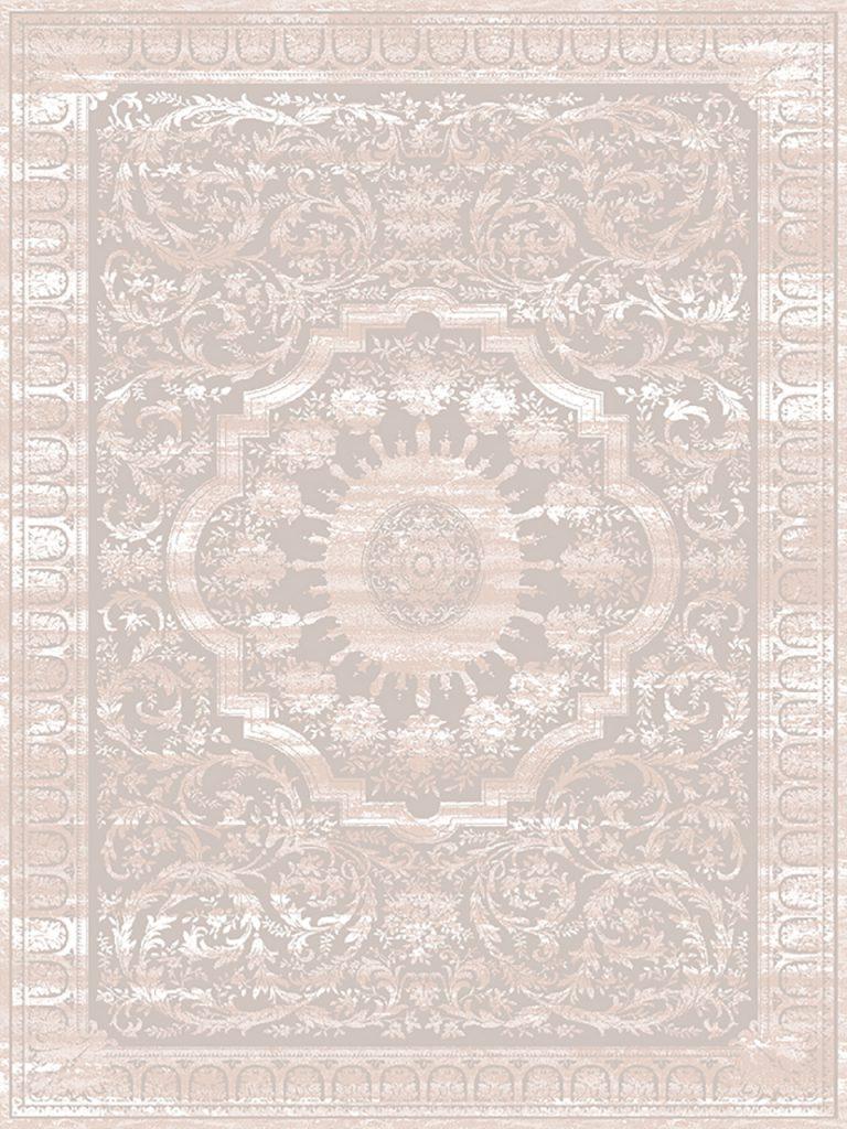 فرش (1910) پلی پروپیلن - 8 رنگ - 410 شانه - بژ - تراکم 1000