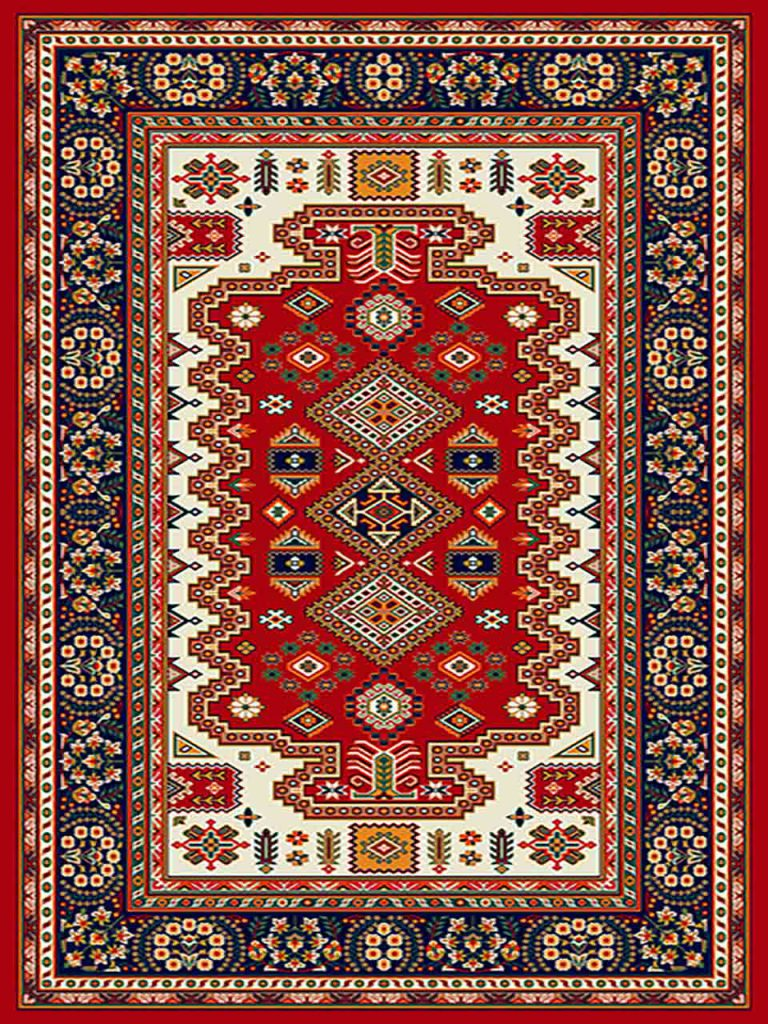 فرش (255) پلی پروپیلن - 8 رنگ - 320 شانه - لاکی - تراکم 960