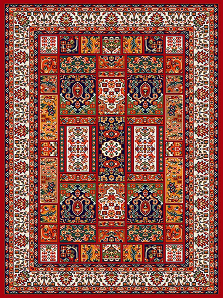 فرش (259) پلی پروپیلن - 8 رنگ - 320 شانه - لاکی - تراکم 960