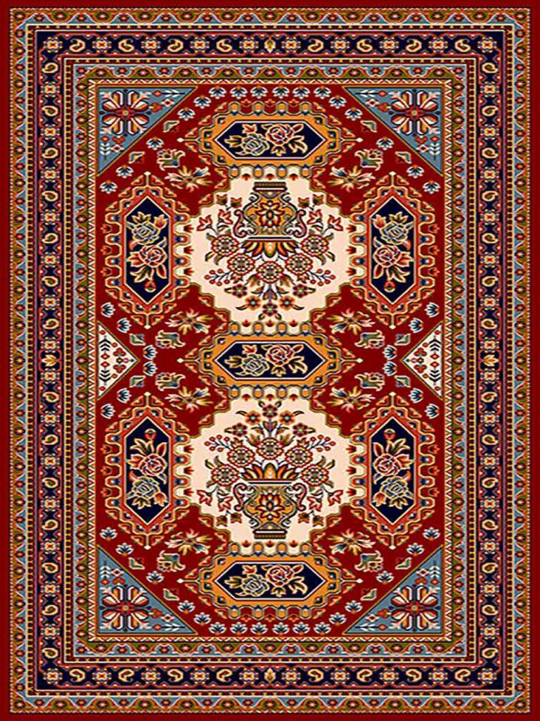 فرش (261) پلی پروپیلن - 8 رنگ - 320 شانه - لاکی - تراکم 960