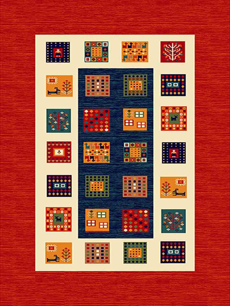 فرش (262) پلی پروپیلن - 8 رنگ - 320 شانه - لاکی - تراکم 960