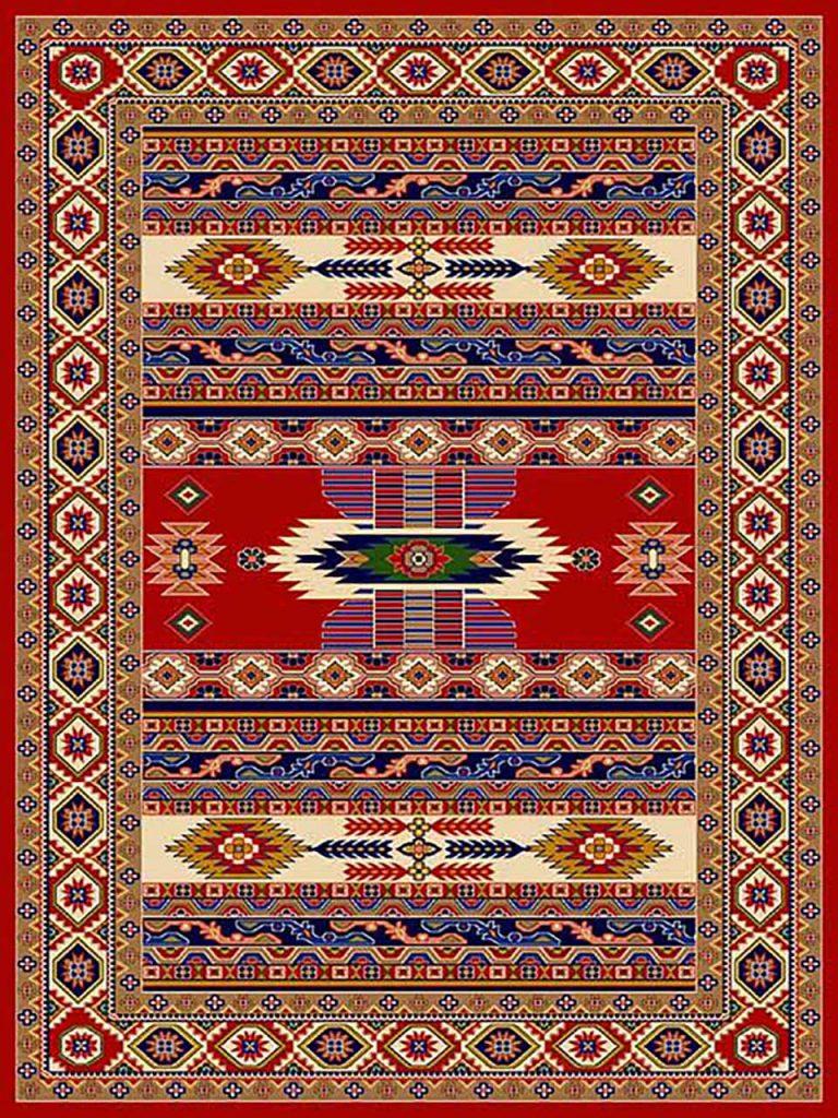 فرش (267) پلی پروپیلن - 8 رنگ - 320 شانه - لاکی - تراکم 960