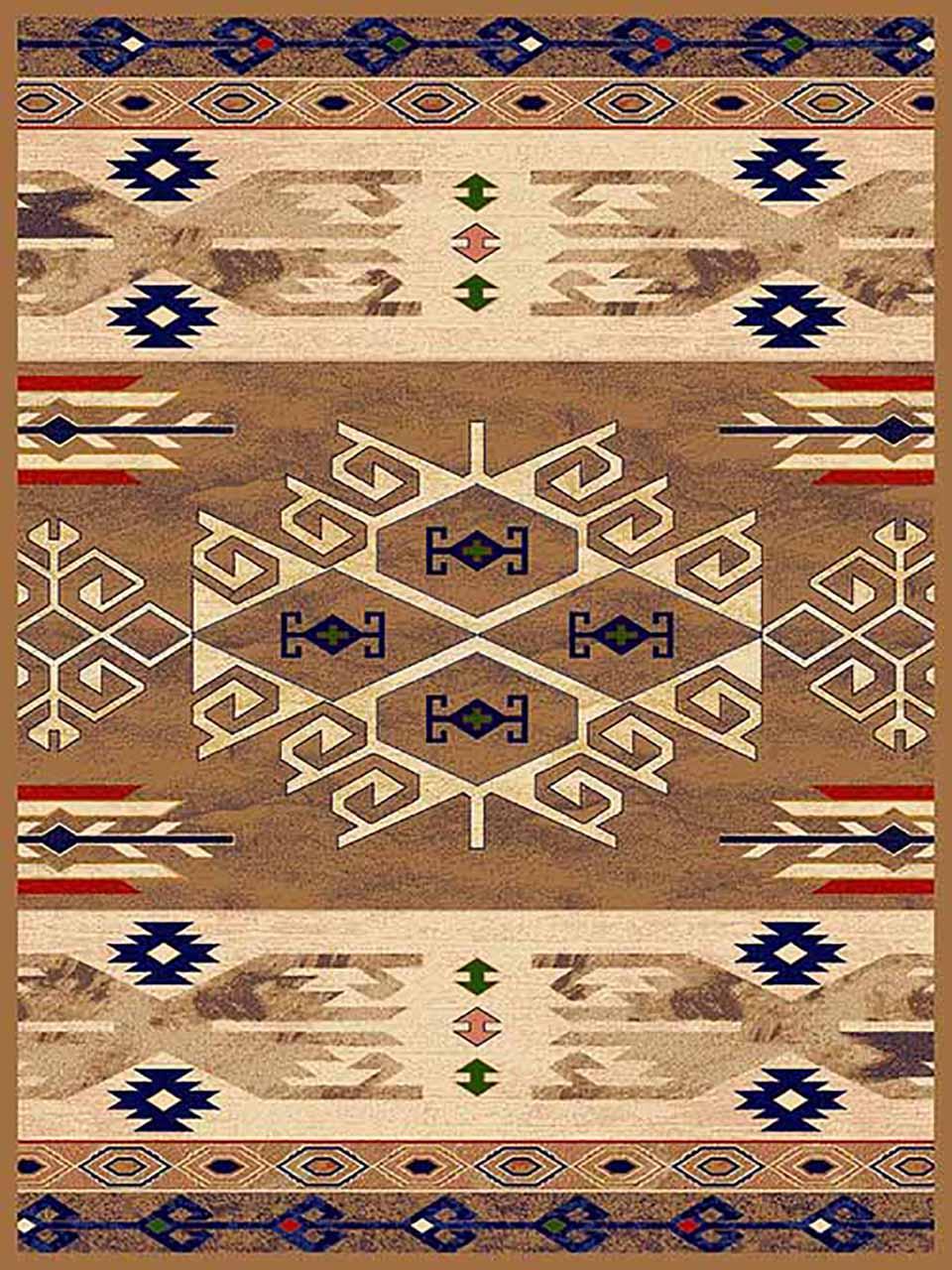 فرش (271) پلی پروپیلن - 8 رنگ - 320 شانه - بژ - تراکم 960