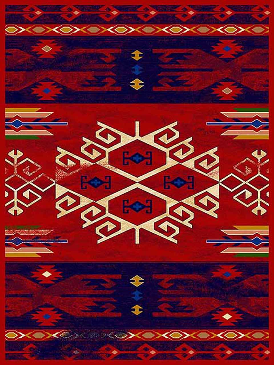 فرش (271) پلی پروپیلن - 8 رنگ - 320 شانه - لاکی - تراکم 960