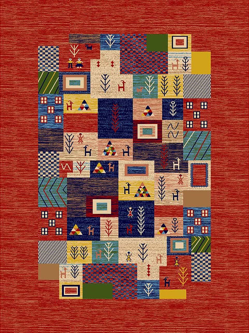 فرش (274) پلی پروپیلن - 8 رنگ - 320 شانه - لاکی - تراکم 960