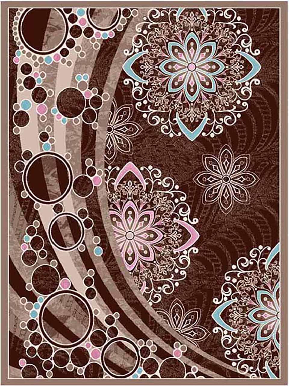 فرش (7002) پلی پرو پیلن - 8 رنگ - 410 شانه - کرم قهوه ای - تراکم 1000