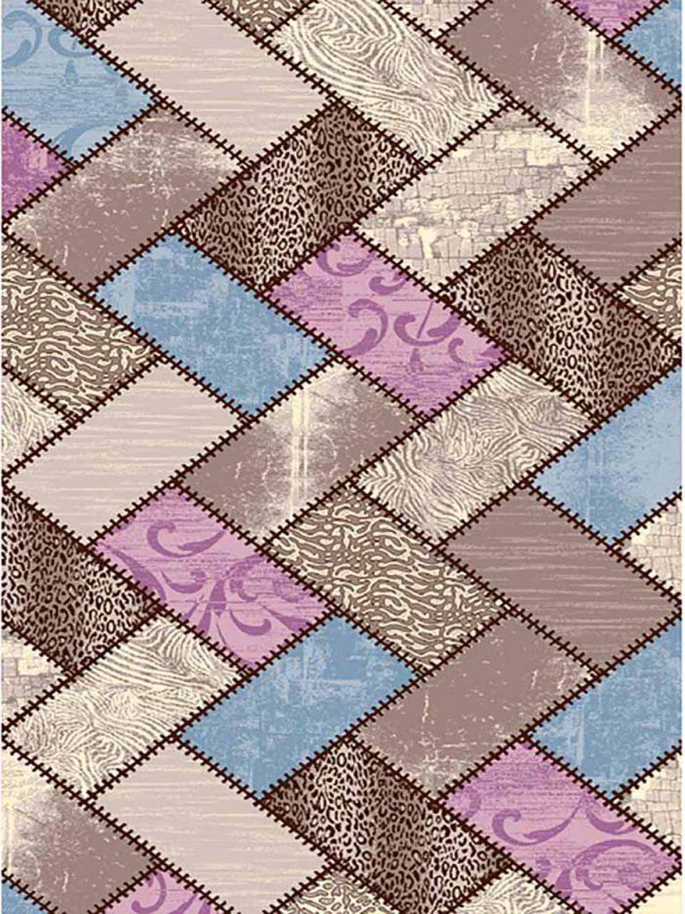 فرش (7004) پلی پرو پیلن - 8 رنگ - 410 شانه - کرم قهوه ای - تراکم 1000