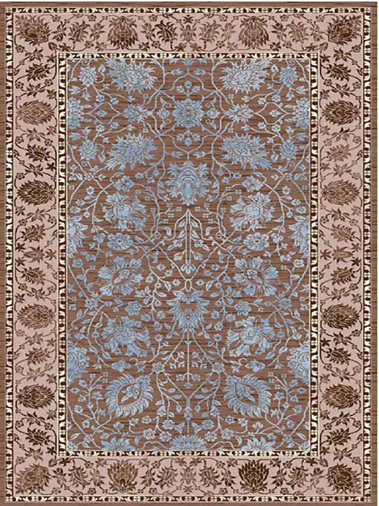 فرش (7008) پلی پرو پیلن - 8 رنگ - 410 شانه - قهوه ای - تراکم 1000