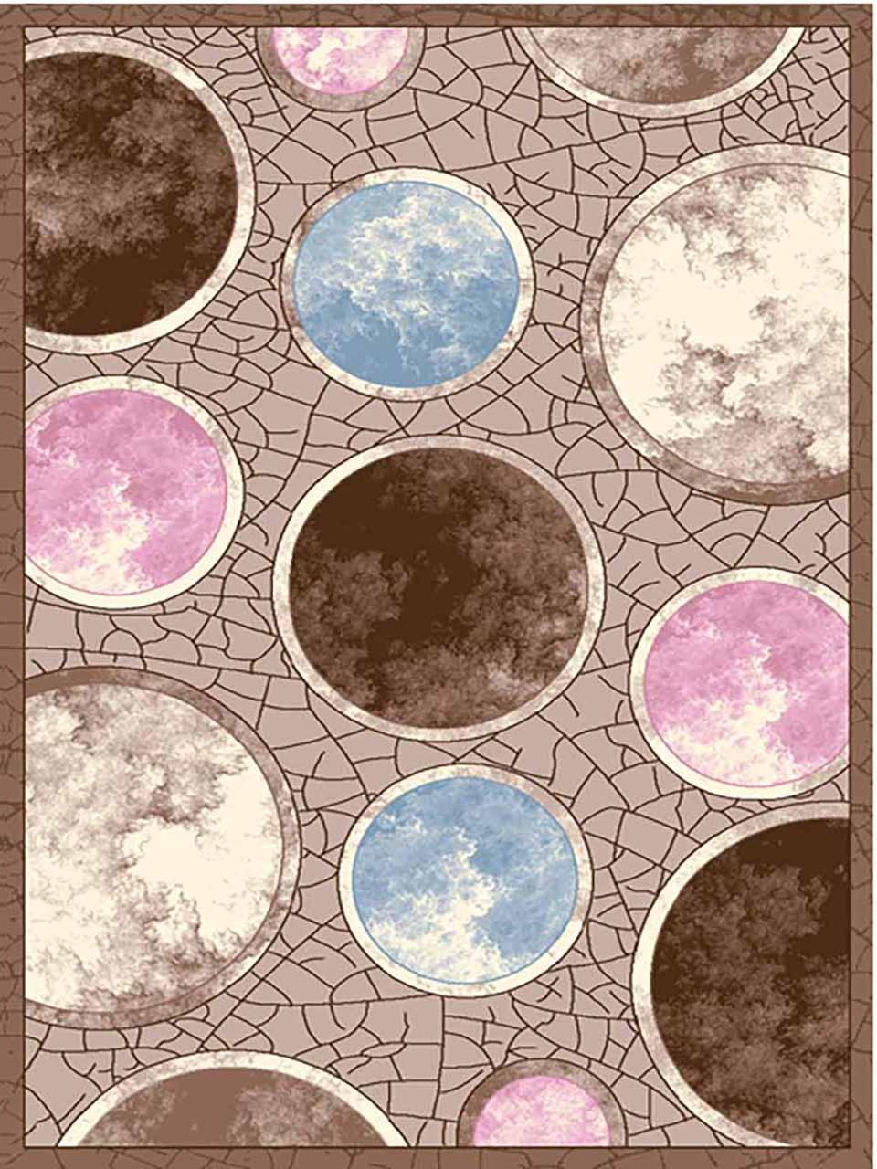 فرش (7009) پلی پرو پیلن - 8 رنگ - 410 شانه - قهوه ای - تراکم 1000
