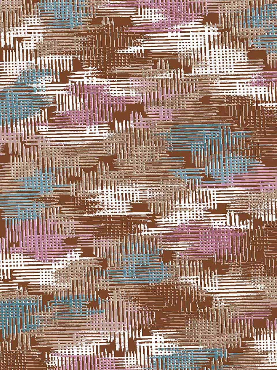 فرش (7031) پلی پرو پیلن - 8 رنگ - 410 شانه - قهوه ای - تراکم 1000